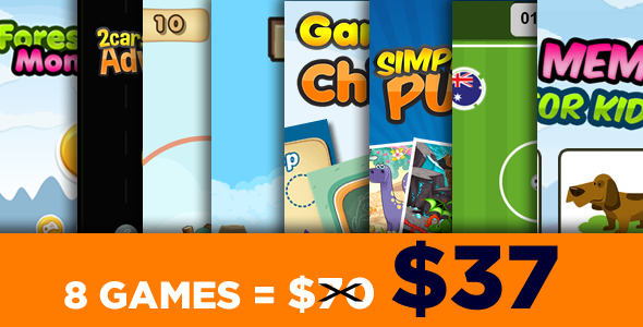 Mega Bundle 8 Games - HTML5 Games (CAPX)
