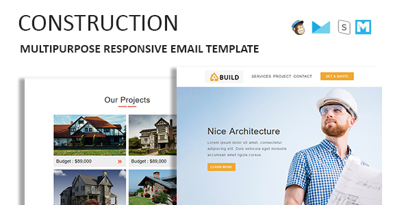 Construction - Multipurpose Responsive Email Template With Online StampReady Builder Access