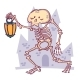 Skeleton with Lantern on a Castle - GraphicRiver Item for Sale