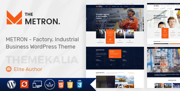 Metron - Industry and Construction WordPress Theme