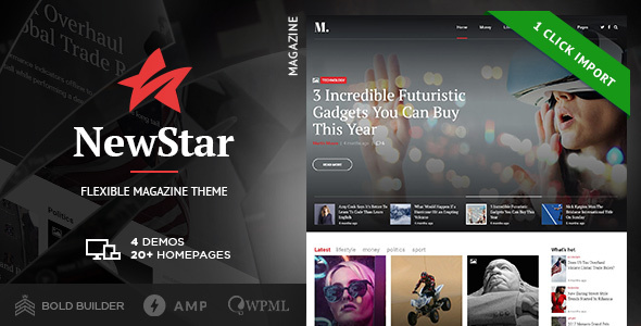 NewStar - Magazine & News WordPress Theme