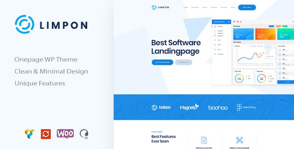 Limpon - App Landing Page WordPress Theme