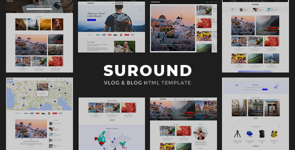 Suround - Vlog & Blog HTML Template