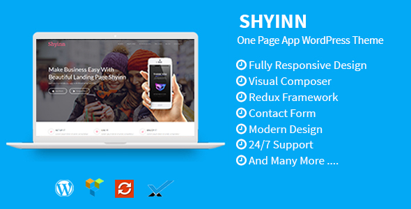 Shyinn - One Page App WordPress Theme