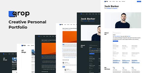 qrop – Creative Personal Portfolio Template.