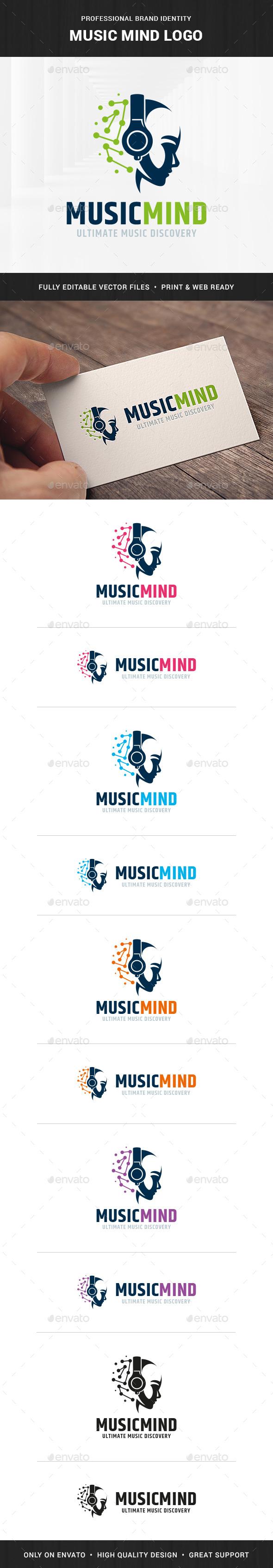 Music Mind Logo Template