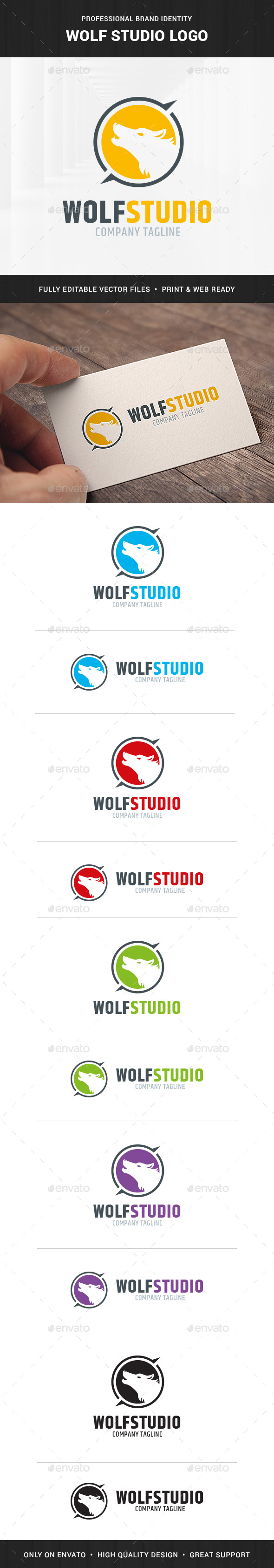 Wolf Studio Logo Template