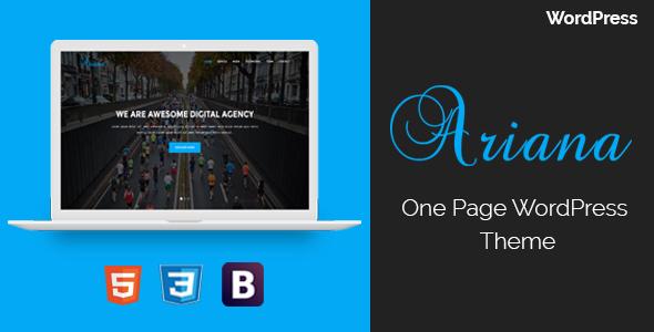 Ariana - Digital Agency One Page WordPress Theme