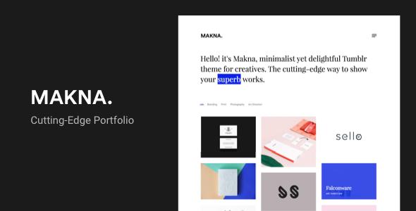 Makna | Minimalist and Delightful Portfolio Tumblr Theme