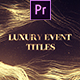 Luxury Event Titles Mogrt - VideoHive Item for Sale