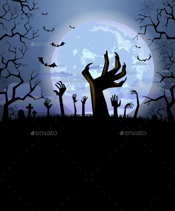 Halloween Background for a Poster