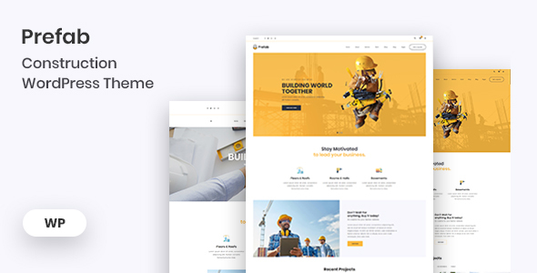 Prefab - Construction WordPress Theme