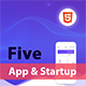 FIVE - HTML App Landing Page - ThemeForest Item for Sale