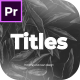 Modern Titles For Premiere Pro - VideoHive Item for Sale