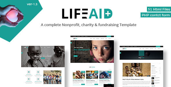 LifeAid - Multipurpose Charity Non-Profit Responsive Template