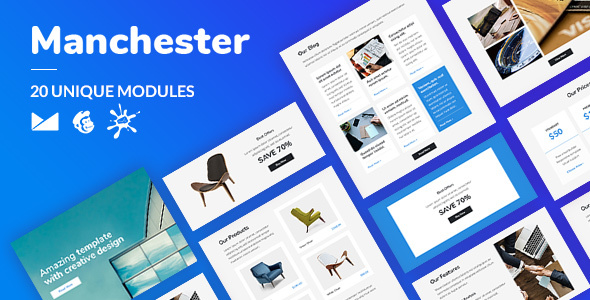 Manchester Email-Template + Online Builder