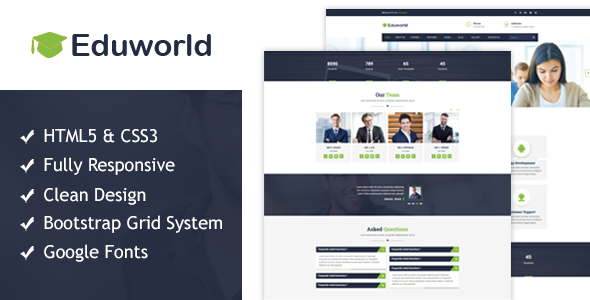 Eduworld - Education HTML Responsive Template