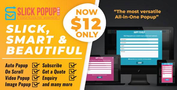 WordPress Popup Plugin - Slick Popup Pro Download