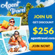 Hotel and Travel Banner Ads Template - GraphicRiver Item for Sale