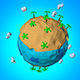 Lowpoly Beach Planet. - 3DOcean Item for Sale