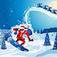 Snowboarding Santa Claus - GraphicRiver Item for Sale