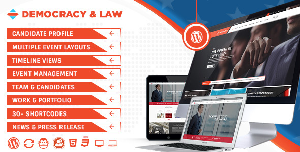Democracy Political - Lawyer WordPress Theme