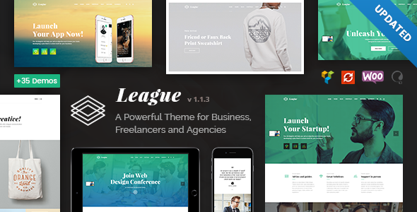 Business League – A Powerful Theme for Business, Freelancers and Agencies
