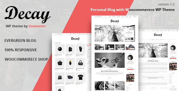 Decay - A Responsive Personal Blog & Woocommerce Shop WordPress Theme
