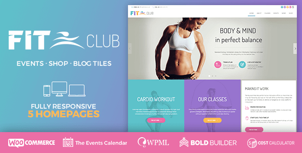 Fitness Club - Health & Gym