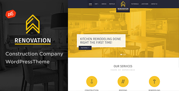 Renovation - Construction Company Theme