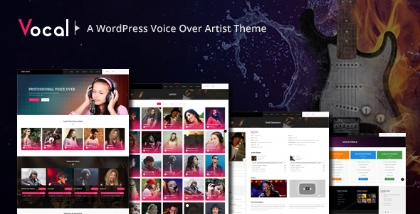 Vocal -  Voice Over Artists WordPress Theme