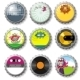 Colorful bottle caps series - GraphicRiver Item for Sale