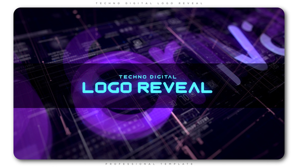 Techno Digital Logo Reveal