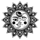 Sun and Moon Ethnic Vintage Vector Illustration - GraphicRiver Item for Sale