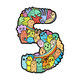 Hand drawn doodled kids numbers.  - GraphicRiver Item for Sale