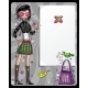 Girl showing message board - GraphicRiver Item for Sale