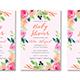 Floral Frame Baby Shower Invitation - GraphicRiver Item for Sale