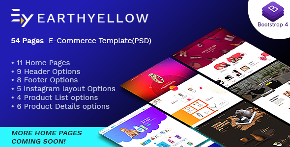 Download Earthyellow – eCommerce PSD Template Nulled