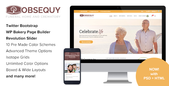 Obsequy - Funeral Home WordPress Theme