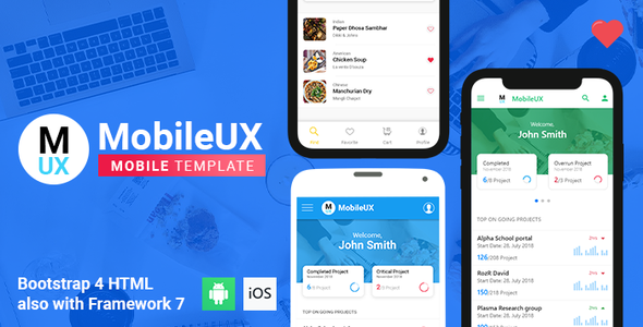 Framework7 Templates from ThemeForest