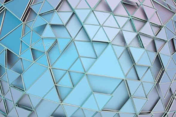 Abstract 3D Rendering of Geometric Surface