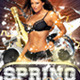 Spring House Boutique Party Flyer PSD Template - GraphicRiver Item for Sale