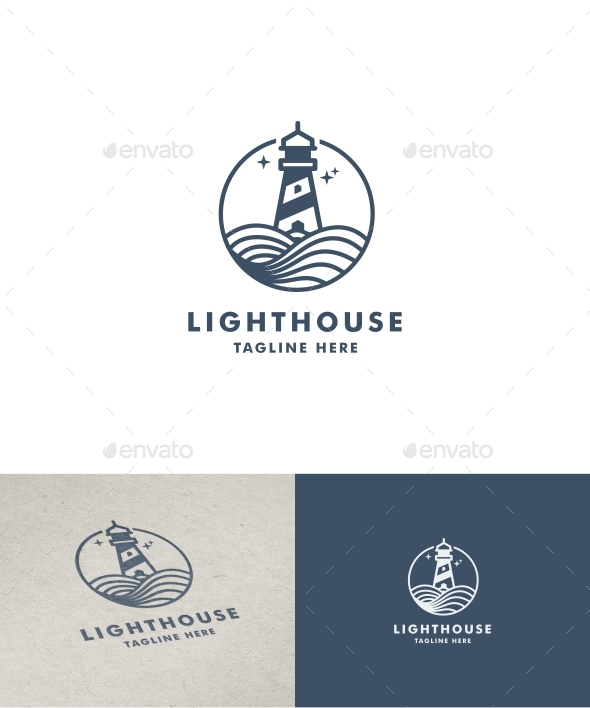 Lighthouse Outline Logo