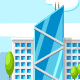 Cityscape with Modern Skyscrapers - GraphicRiver Item for Sale