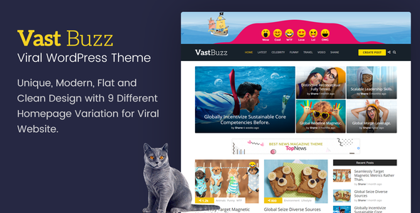 Vast Buzz - Viral Magazine WordPress Theme