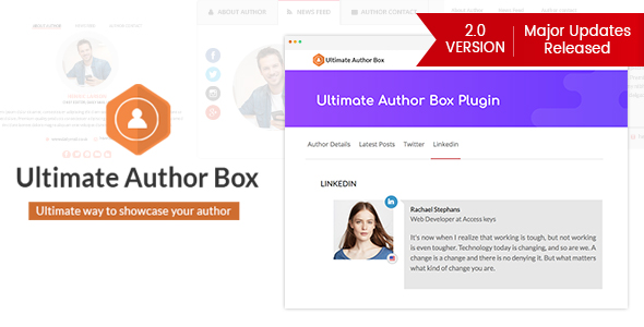 Ultimate Author Box - Responsive Post/Article Author Section Plugin for WordPress Download