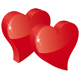 two red hearts - GraphicRiver Item for Sale
