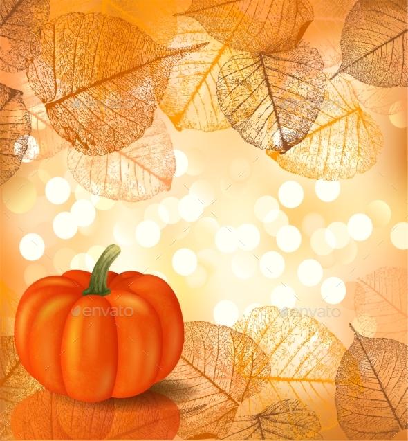 Festive Background with Pumpkin