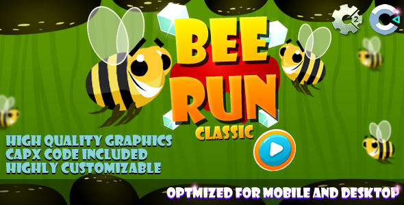 Bee Run - C2/C3/HTML5 Game
