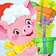 Symbol of Chinese Horoscope - Yellow Earthy Pig with Gift Boxes - GraphicRiver Item for Sale